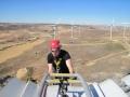 Blade repair using rope access in Spain