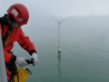 Offshore rope access inspection in Ireland