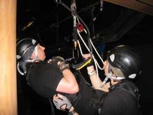 Work at height training for theatre riggers